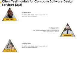 Client Testimonials For Company Software Design Services R264 Ppt Templates