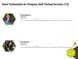 Client Testimonials For Company Staff Training Services L1484 Ppt Powerpoint Icon