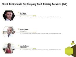 Client Testimonials For Company Staff Training Services L1485 Ppt Powerpoint Elements