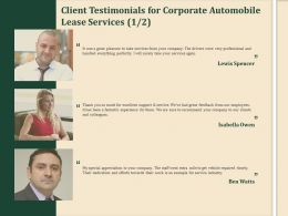 Client Testimonials For Corporate Automobile Lease Services R177 Ppt Demonstration
