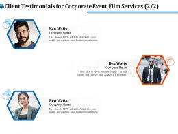Client Testimonials For Corporate Event Film Services R357 Ppt Inspiration