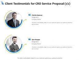 Client Testimonials For CRO Service Proposal L1733 Ppt Powerpoint Inspiration