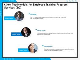 Client Testimonials For Employee Training Program Services R83 Ppt Powerpoint Presentation File