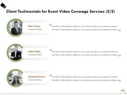 Client Testimonials For Event Video Coverage Services R267 Ppt Powerpoint Example Introduction