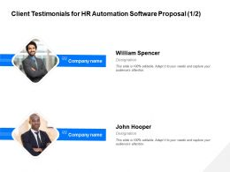 Client Testimonials For HR Automation Software Proposal R124 Ppt File