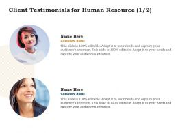 Client Testimonials For Human Resource L1429 Ppt Powerpoint Presentation Outline