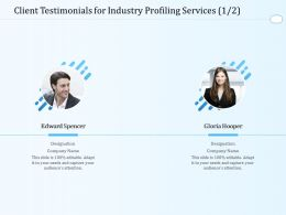 Client Testimonials For Industry Profiling Services L1605 Ppt Powerpoint Presentation Icon