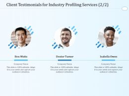 Client Testimonials For Industry Profiling Services L1606 Ppt Powerpoint Information