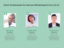Client Testimonials For Internet Marketing Services R85 Ppt Powerpoint Gridlines