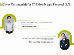 Client Testimonials For IOS Mobile App Proposal L1536 Ppt Powerpoint Information