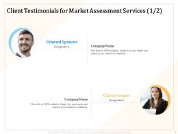 Client Testimonials For Market Assessment Services R223 Ppt Powerpoint Presentation