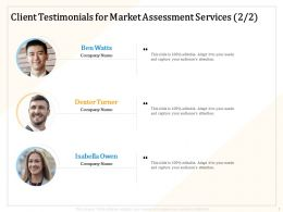 Client Testimonials For Market Assessment Services R224 Ppt Powerpoint Maker
