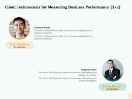 Client Testimonials For Measuring Business Performance R114 Ppt Icon