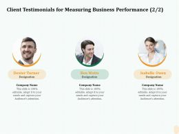 Client Testimonials For Measuring Business Performance R115 Ppt Layouts
