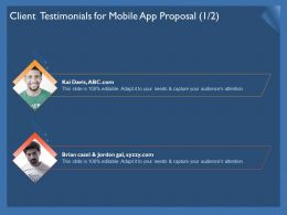 Client Testimonials For Mobile App Proposal R302 Ppt Powerpoint Example