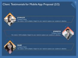Client Testimonials For Mobile App Proposal R303 Ppt Powerpoint Icons