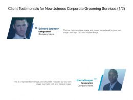 Client Testimonials For New Joinees Corporate Grooming Services Ppt Images