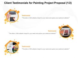 Client Testimonials For Painting Project Proposal L1678 Ppt Powerpoint Presentation Topics