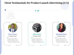 Client Testimonials For Product Launch Advertising R215 Ppt Powerpoint Presentation Icon