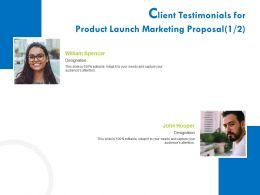 Client Testimonials For Product Launch Marketing Proposal R378 Ppt Inspiration
