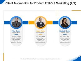 Client Testimonials For Product Roll Out Marketing R204 Ppt Powerpoint Infographics