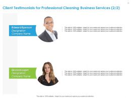 Client Testimonials For Professional Cleaning Business Services R108 Ppt File Topics