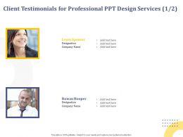 Client Testimonials For Professional Ppt Design Services Designation Ppt Powerpoint Presentation Guide
