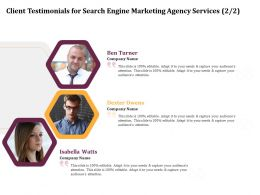 Client Testimonials For Search Engine Marketing Agency Services R365 Ppt Icon