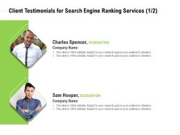 Client Testimonials For Search Engine Ranking Services Attention Ppt Powerpoint Presentation Layout