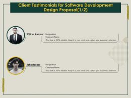 Client Testimonials For Software Development Design Proposal R229 Ppt Template