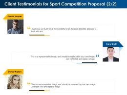 Client Testimonials For Sport Competition Proposal L1593 Ppt Powerpoint Background