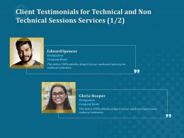 Client Testimonials For Technical And Non Technical Sessions Services R253 Ppt Template