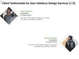Client Testimonials For User Interface Design Services L1751 Ppt Powerpoint Tutorials
