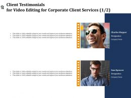 Client Testimonials For Video Editing For Corporate Client Services R230 Ppt File Format Ideas