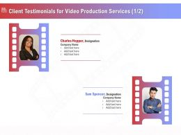 Client Testimonials For Video Production Services R323 Ppt Inspiration