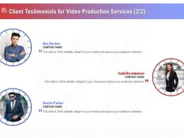 Client Testimonials For Video Production Services R324 Ppt Demonstration