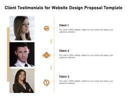Client Testimonials For Website Design Proposal Template Ppt Powerpoint Format