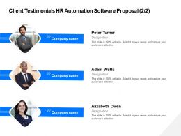 Client Testimonials HR Automation Software Proposal R125 Ppt Layouts