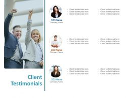 Client Testimonials Introduction A782 Ppt Powerpoint Presentation Pictures Skills