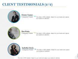 Client Testimonials Introduction C1002 Ppt Powerpoint Presentation Ideas Guide