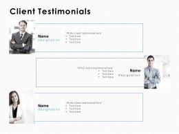 Client Testimonials Introduction C1010 Ppt Powerpoint Presentation Infographics Deck