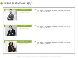 Client Testimonials Introduction C877 Ppt Powerpoint Presentation File Example File