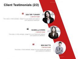 Client Testimonials Introduction C985 Ppt Powerpoint Presentation Icon Design Ideas