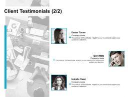 Client Testimonials Introduction L729 Ppt Powerpoint Presentation