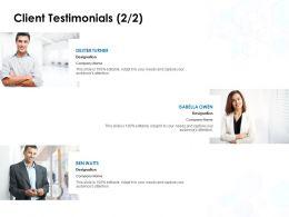 Client Testimonials Introduction L827 Ppt Powerpoint Presentation Slides Skills