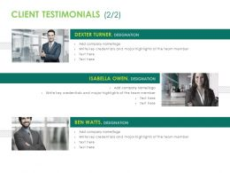 Client Testimonials Introduction Ppt Powerpoint Clipart Images