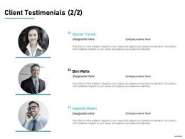 Client Testimonials Introduction Ppt Powerpoint Presentation Inspiration Pictures