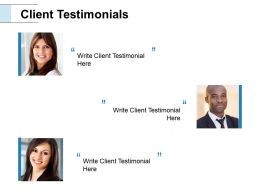 Client Testimonials Introduction Ppt Powerpoint Presentation Outline Backgrounds