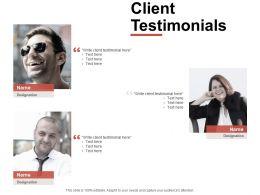 Client Testimonials Introduction Ppt Powerpoint Presentation Slides Show
