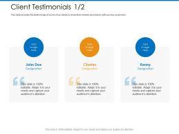 Client Testimonials John M2363 Ppt Powerpoint Presentation Styles Graphics Design